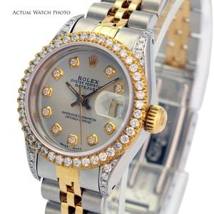 Rolex Lady Datejust Diamond Dial Lugs Bezel 26mm